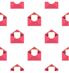 Greeting card in pink envelope pattern seamless vector