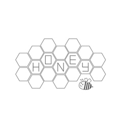 Honeycomb set Bee insect animal Beehive element vector image vector image