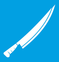Long knife icon white vector