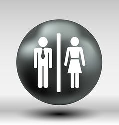 Man woman restroom sign icon button logo symbol vector