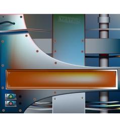 Metalwork banner vector