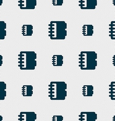 Notepad calendar icon sign Seamless pattern with vector image