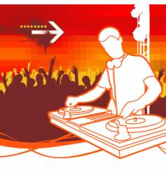 party dj vector image vector image