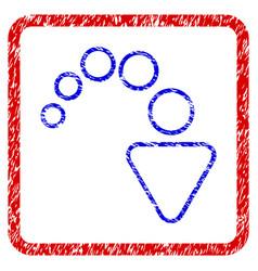 Redo grunge framed icon vector