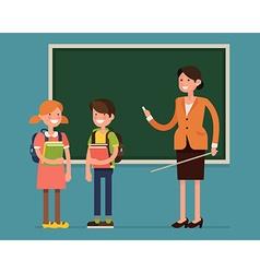 School Kid Character Icons vector image vector image