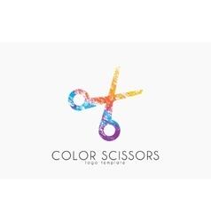 Scissors logo Color scissors logo design vector image vector image