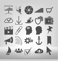 set of internet related icons vector image vector image