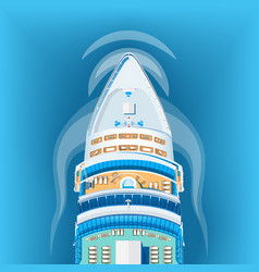 ship top view vector image
