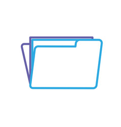 Silhouette folder file with important business vector