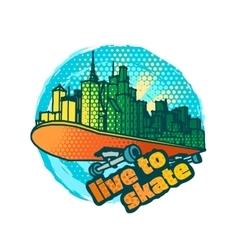 Skateboarding emblem vector image vector image