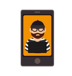 Smartphone device with justice app isolated icon vector