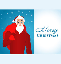 white-blue poster happy christmas with a picture vector image