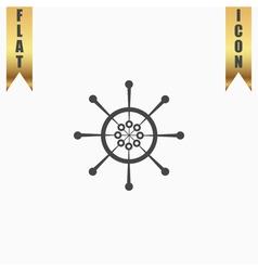 Yacht wheel symbol helm silhouette vector