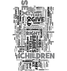 years old and pregnant text word cloud concept vector image vector image