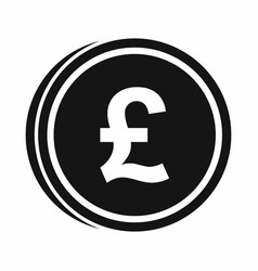 Coins of pound icon simple style vector