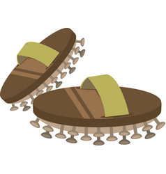 Asian spa slippers icon vector