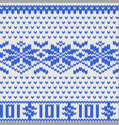 Knitted dollar blue white scheme vector