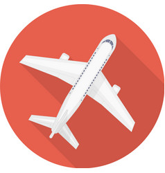 Airplane icon red vector