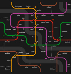 Fictional metro map seamless pattern vector