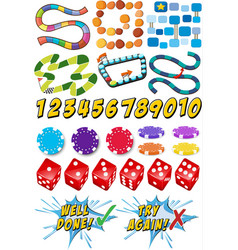 Game templates and casino items vector