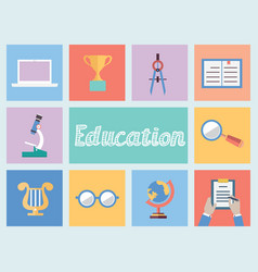 Concept of education flat style design vector