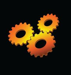 sunny gear design vector image