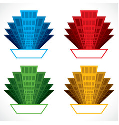 Colorful building icon stock vector