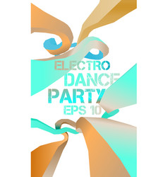 Electro dance party flyer vector