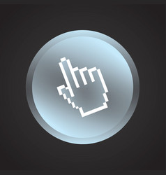 pointer button vector image