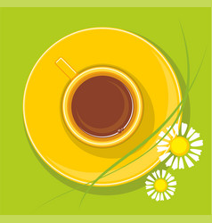 yellow cup vector image