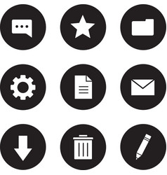 Digital icons set black vector