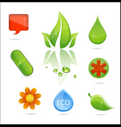 medic and nature signs vector image