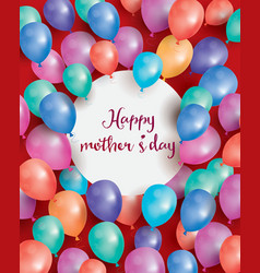 Happy mothers day card with flying balloon vector