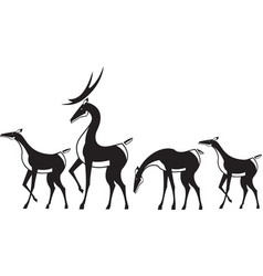 Herd of deer vector