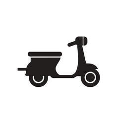 Flat icon in black and white style scooter vector