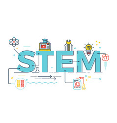 Stem - science technology engineering mathematics vector