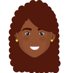 Black beautiful and young woman head vector