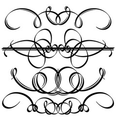 Black calligraphic elements vector image vector image