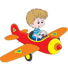 Boy pilot vector