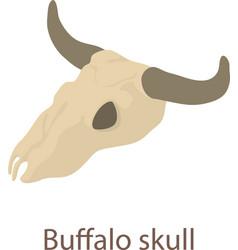 Buffalo skull icon isometric 3d style vector