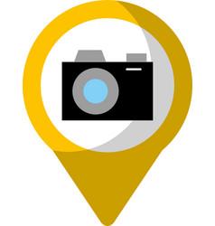 Camera social media round pointer we vector