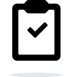 Check clipboard simple icon on white background vector image