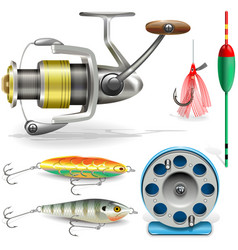 Fishing tackle vector