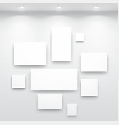 gallery interior vector image