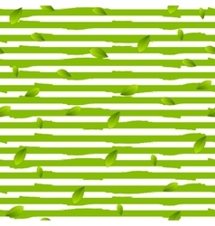 Grunge stripes and summer leaves background vector image vector image