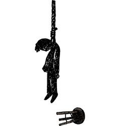 Hangman on rope noose vector