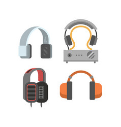 Headphones set vector image