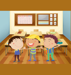 Kids at school vector image vector image