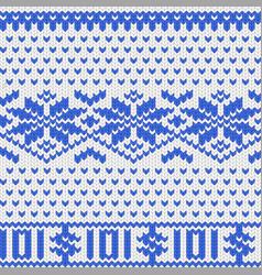 Knitted dollar blue white scheme vector
