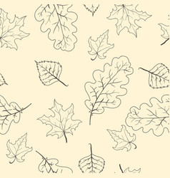 Leaves branches seamless pattern background vector image vector image
